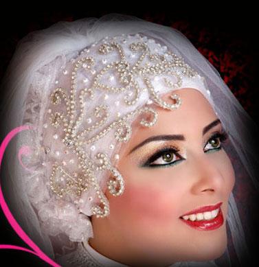 مدل جديد تاج و تور عروس عرب