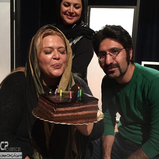 عکس بهاره رهنما در روز تولدش در کنار همسرش
