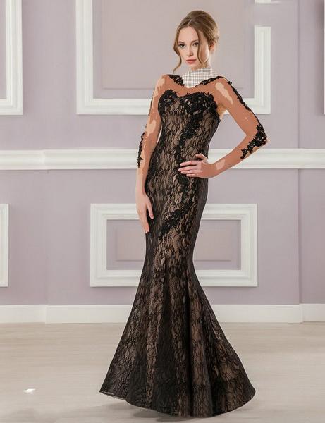 مدل لباس مجلسی بلند گيپور دار 94