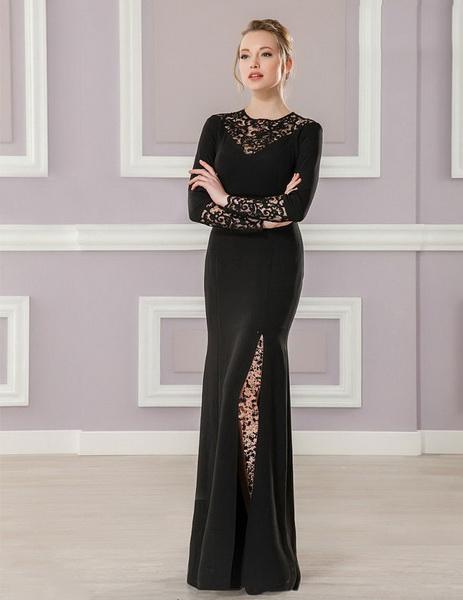 مدل لباس مجلسی بلند گيپور دار
