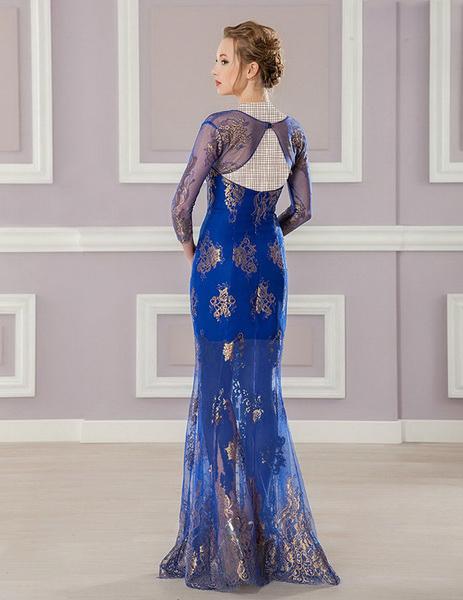 انواع مدل لباس مجلسی بلند گيپور دار