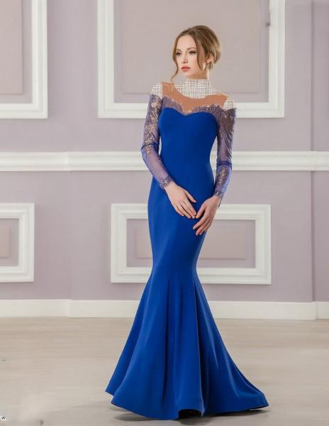 جديدترين مدل لباس مجلسی بلند گيپور دار